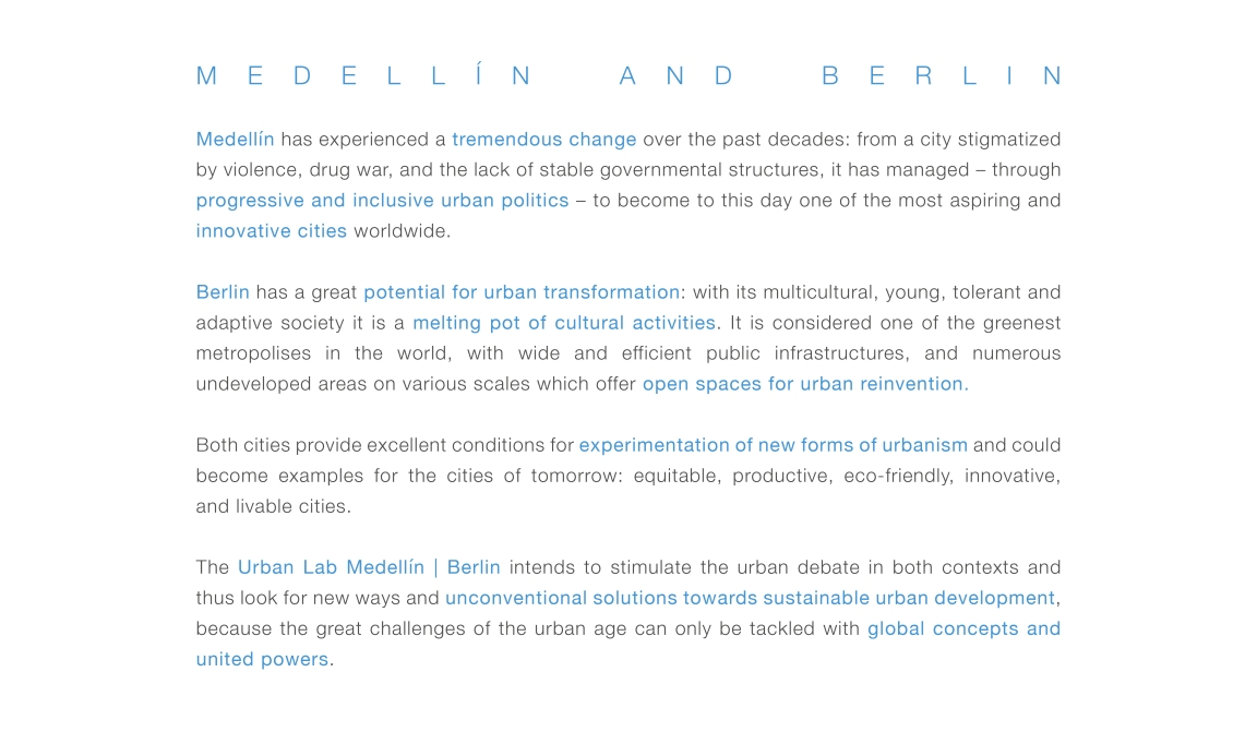 Urban Lab - Text Medellín Berlin